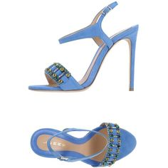 Lerre Sandals (€195) ❤ liked on Polyvore featuring shoes, sandals, pastel blue, blue stilettos, animal shoes, buckle shoes, buckle sandals and lerre shoes