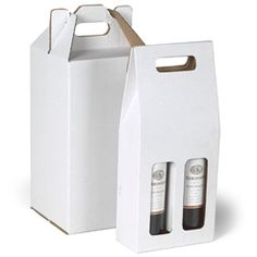 Our Corrugated Wine Carriers are practical, reusable packaging options for two or four bottles of wine, sparkling water or spirits.  Use them as a gift packaging solution for a housewarming or hostess gift.  They're great for a picnic or a concert in the park.  They're made from heavy-duty corrugated cardboard, with a high percentage of recycled material.