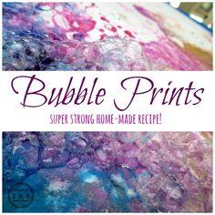 Preschool Art: Bubble Prints - Teaching 2 and 3 year olds