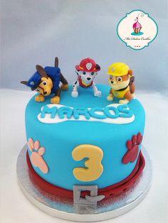 tarta de cumpleaños patrulla canina