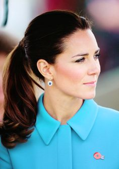 Catherine, Duchess of Cambridge...Only Catherine can make a ponytail look amazing!