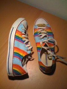 painting canvas shoes acrylic paint   Charles Sutton: Painted Shoes