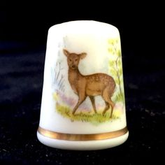Royal Worcester Woodland Animals  Roe Deer China Thimble B//84