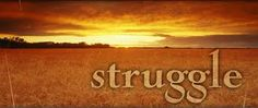 struggle:to try extremely hard to achieve something, even though it is very difficult