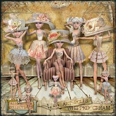 #MischiefCircus2016 Whipped Cream Art Dolls by Debbie Kerkhof