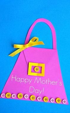 Please your Mom and grandma with some of the adorable and cute handmade gifts and crafts this Mothers day. And by the way, Mothers Day falls on May Mothers Day Crafts For Kids, Fathers Day Crafts, Mothers Day Cards, Happy Mothers Day, Mother Day Gifts, Diy Mother's Day Crafts, Mother's Day Diy, Preschool Crafts, Holiday Crafts