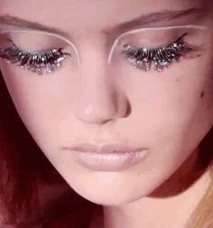 my gif beauty Glitter makeup princess fairy frida gustavsson fake eyelashes lisa eldridge Makeup Inspo, Makeup Inspiration, Beauty Makeup, Hair Makeup, Hair Beauty, Eyelashes Makeup, False Eyelashes, Frida Gustavsson, Glitter Eye Makeup