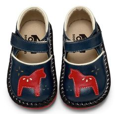 See Kai Run Dahlia Shoe with little Swedish Dala horse Toddler Shoes, Toddler Girl, Girls Shoes, Baby Shoes, Baby Booties, Swedish Style, Jolie Photo, Baby Kind, Childrens Shoes