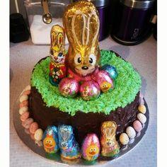Easter cake I made, dead proud! #easter #cake #eastereggs #minieggs #cakedecorating #sofun