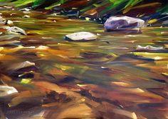 The Pacsa Creek . Oil on Art panel . x 70 cm) Panel Art, Painting, Painting Art, Paintings, Painted Canvas