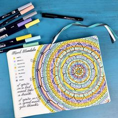 February's Mood Mandala all completed! I love it so much! Check out my video here if you want to learn how to make one yourself! Thanks to @bujo.mama(IG) for the idea!