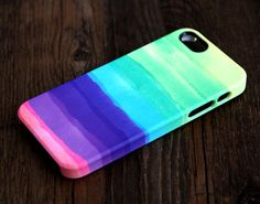 Pastel Abstract Watercolor iPhone 6 Plus/6/5S/5C/5/4S/4 3D Wrap Case