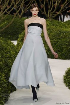 christian dior spring 2013 couture blue dress