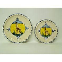 Bonechi Imports - Tuscan Animal Pattern Plate: Giraffe