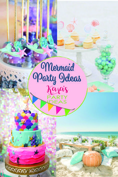 Swoon with us over the hundreds of Mermaid Party Ideas from Kara's Party Ideas.