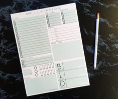 Daily Page Notepad - Single