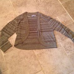 """Sweater Shrug Brown with shimmer. 17.5"""" Sweaters Shrugs & Ponchos"""