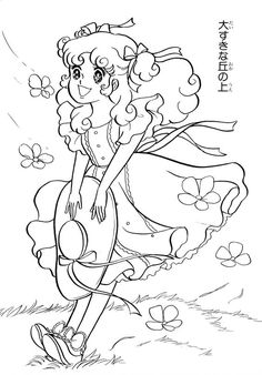 Anime Manga Coloring From Honey Angel Colouring Book