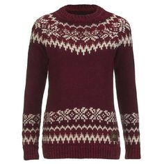 Superdry Women's Courcheval Knitted Jumper ($76) ❤ liked on Polyvore featuring tops, sweaters, red, red fair isle sweater, fairisle sweater, purple sweater, red sweater and turtleneck sweater