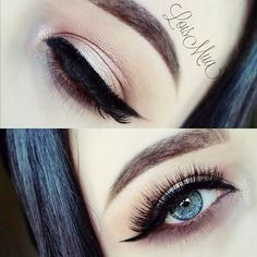 """Beautiful Looks by this talented mua. Keep up the amazing work!! @Loismua @loismua #pastels #perfection #perfectbrows #talent #mua #makeup #beauty #babe #blueeyes #flawless Re-create this look with #Eyelashi """"TRENDSETTER"""" #mink #lashes #luxury #falsies #holidays #Christmas"""
