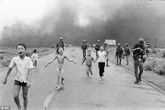 On June 8, 1972 a South Vietnamese plane dropped a napalm bomb on forces in Trang Bang after mistaking them for troops from North Vietnam