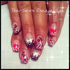 Pink, Black & White by TraiSeasEscape - Nail Art Gallery nailartgallery.nailsmag.com by Nails Magazine www.nailsmag.com #nailart