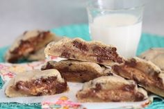 Candy Bar Chocolate Chip Cookie Sandwiches