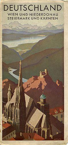 """""""Deutschland - Wien und Niederdonau, Stiermark und Kärten,"""" 1938 / Wettach"""