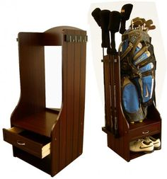 Birdie Golf Bag Storage Rack $119 #gifts