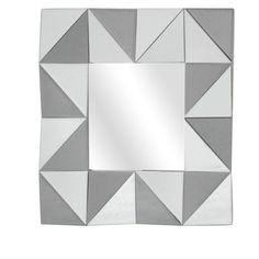 Squared Up Horizontal and Vertical Decorative Wall Mirror, Silver Cheap Mirrors, Round Mirrors, Mirror Set, Wall Mirror, Crestview Collection, Triangle Shape, Home Decor Trends, Shabby Chic Furniture, Optical Illusions