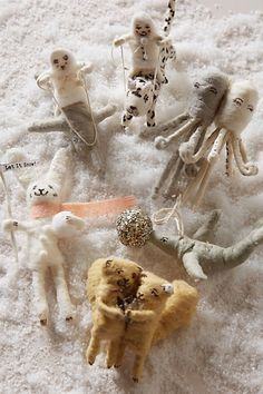 Adorable!!!   Arctic Ornaments