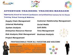 Advertisement flyer for IQOCIK which was made for TRAINERS & TRAINING MANAGERS