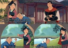 """... Mulan: """"Would you like to stay for dinner?""""   Grandmother: """"Would you like to stay forever?"""""""