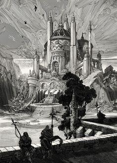 Black & white illustrations by Nicolas Delort