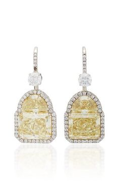 One-Of-A-Kind Radiant Diamond Earrings by Martin Katz Fall Winter 2018