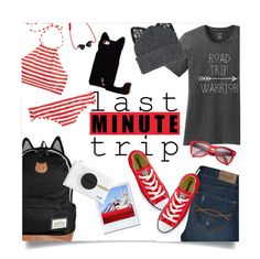 """Last Minute Trip"" by leslee-dawn ❤ liked on Polyvore featuring Abercrombie & Fitch, Converse, Silver Spoon Attire, J.Crew, Polaroid and Ray-Ban"