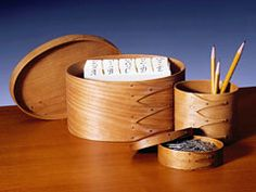 Shaker Oval Box  Desk  Accessories