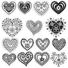 digital stamp images free | Free digita heart stamps — Printable Decor