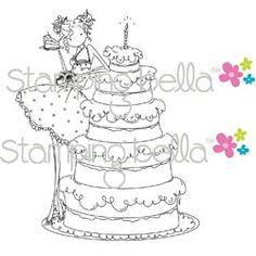 stamping bella uptown girls | Stamping Bella Cling Stamp UPTOWN GIRL BIANCA LOVES HER BIG CAKE ...