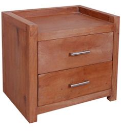 Cucuta Bedside Table in Colonial Maple Finish by Woodsworth