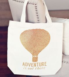 Bits and Pieces Cricut cartridge -- Adventure is out there tote bag by The Crafting Chicks. Make It Now in Cricut Design Space