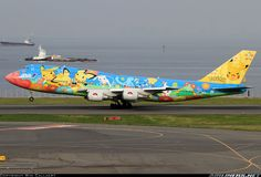 All Nippon Airways, Boeing 747-481D ~ Pokemon livery