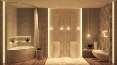 Elegant and minimalist bathroom design with dark color.... | Visit : roohome.com  #fabulous #unique #simple #amazing #awesome #gorgeous #design #decoration #simple
