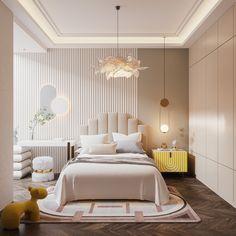 Luxury Kids Bedroom, Master Bedroom Interior, Room Design Bedroom, Modern Bedroom Design, Room Interior Design, Room Ideas Bedroom, Home Room Design, Kids Bedroom Designs, Home Decor Bedroom