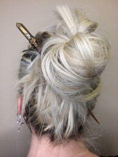 Hair Chopstick // Hair Accessories // Mountain Mystic Gems Natural Hair Tips, Natural Hair Styles, Gem Hair, Wacky Hair, Chopstick Hair, Nailart, Wig Making, Hair Sticks, Girls Makeup