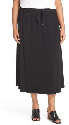 Drawstring A-line Jersey Skirt, Black | Clothes | Pinterest ...