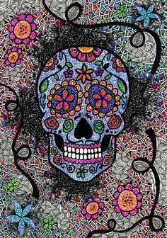Caveira Mexicana - Luciana Pupo Artist