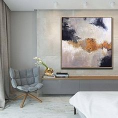 original abstract painting on canvas,office wall art framed,large canvas art living room,modern wall art canvas,large wall art abstract Large Canvas Art, Large Wall Art, Abstract Canvas, Oil Painting On Canvas, Large Art, Painting Art, Art Paintings, Grand Art Mural, Art Blanc