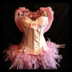 Pink Angel costume  Corset& tutu set with wings Www.tutufactory.co.uk