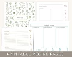10 Great Printables for Household Planning: Meals, Cleaning